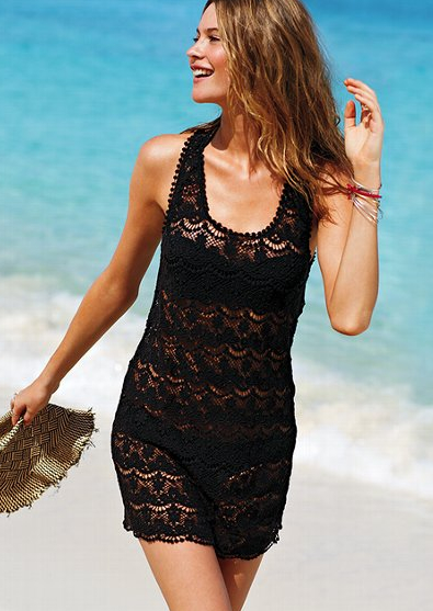 Lace Cover Up, $88.50, Victoria's Secret